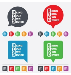 Byod sign icon bring your own device symbol vector