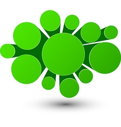 Bubble green infographics design vector