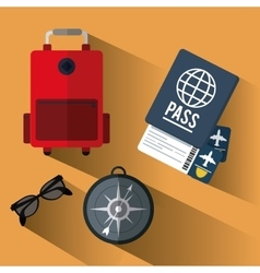 Vacations and travel design vector