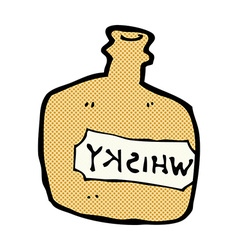 Comic cartoon whisky jar vector