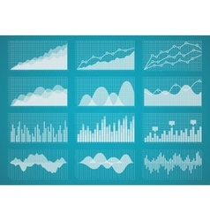 Graphs and charts set vector image