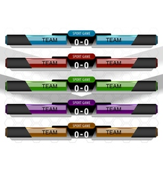 Scoreboard sport game vector