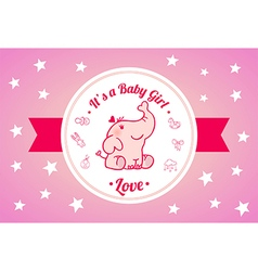Sweet baby shower invitation card design vector