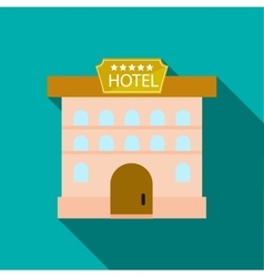 Hotel five stars icon in flat style vector