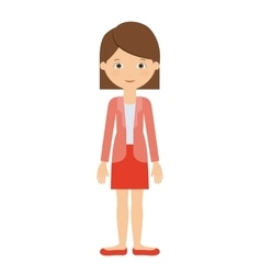 Woman standing isolated icon design vector