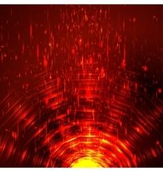 Abstract colorful shining circle tunnel vector image
