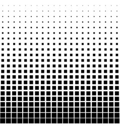Abstract halftone black square on a white vector