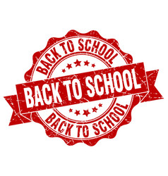 Back to school stamp sign seal vector