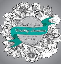 Beautiful elegant wedding invitation with graphic vector