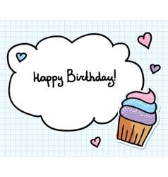 birthday greeting card vector image