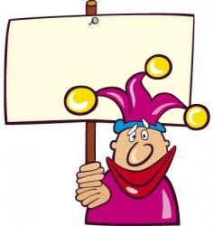cartoon jester vector image