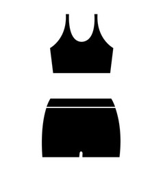 female gym wear icon vector image