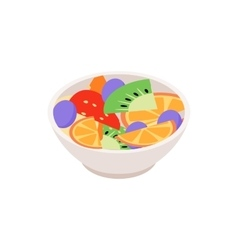 Fruit salad icon isometric 3d style vector image