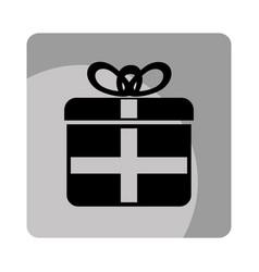 Giftbox party celebration icon vector