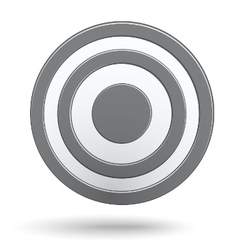 Grey round darts target aim isolated vector