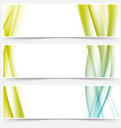 Header footer web modern satin line collection vector