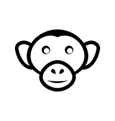 icon monkey head isolated on white background - vector image vector image