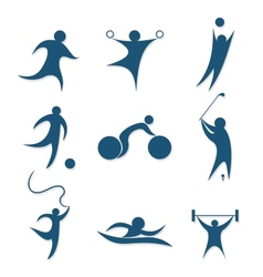icons sports vector image vector image