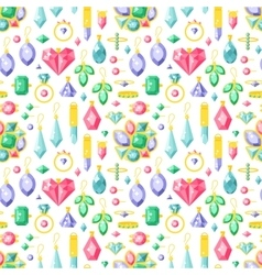 Jewelry stones seamless pattern expensive vector