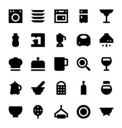 Kitchen utensils icons 3 vector