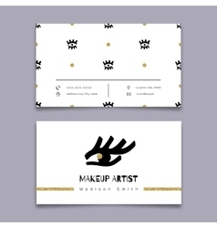 Makeup artist business card hipster minimal vector
