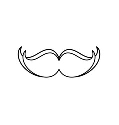 Mustache cartoon style vector