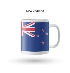 New Zealand flag souvenir mug on white background vector image