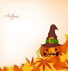 pumpkin autumn background vector image vector image