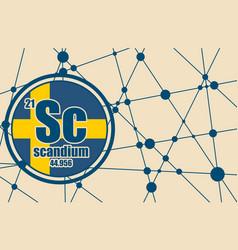 scandium chemical element vector image