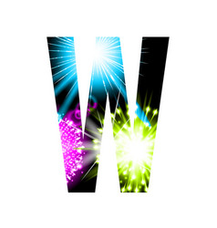 Sparkler firework letter isolated on white vector
