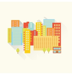Sunny summer city vector image vector image