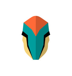 Super hero masks in flat style big cartoon vector