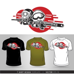 T-shirt cartoon design vector image vector image