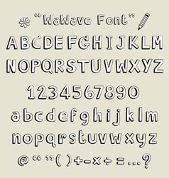 Wawave font vector