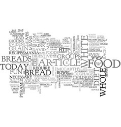 White bread text word cloud concept vector