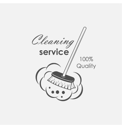 Cleaning service emblems vector