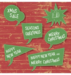 Xmas speech bubbles vector