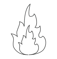 hot flame spurts fire design line vector image