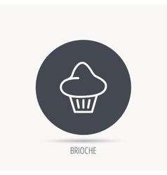Brioche icon bread bun sign vector
