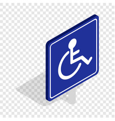 Disabled handicap isometric icon vector