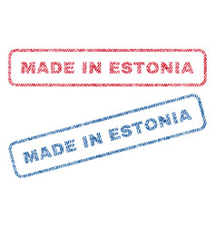 Made in estonia textile stamps vector