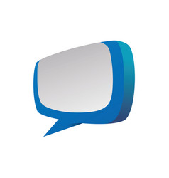 chat bubble isolated vector image