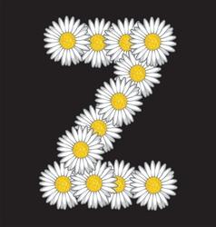 Daisy flower letter vector