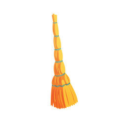 Retro cleaning and dusting broom cartoon vector