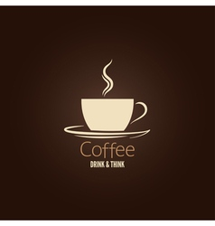 coffee cup design background vector image