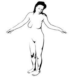 Naked girl vector