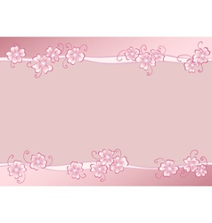 Pink flowers copy vector