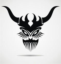 Demon mask tattoo vector