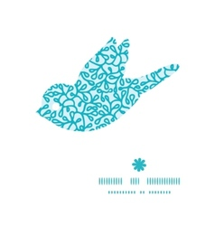 Abstract underwater plants bird silhouette pattern vector