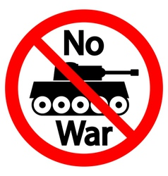 No war sign vector